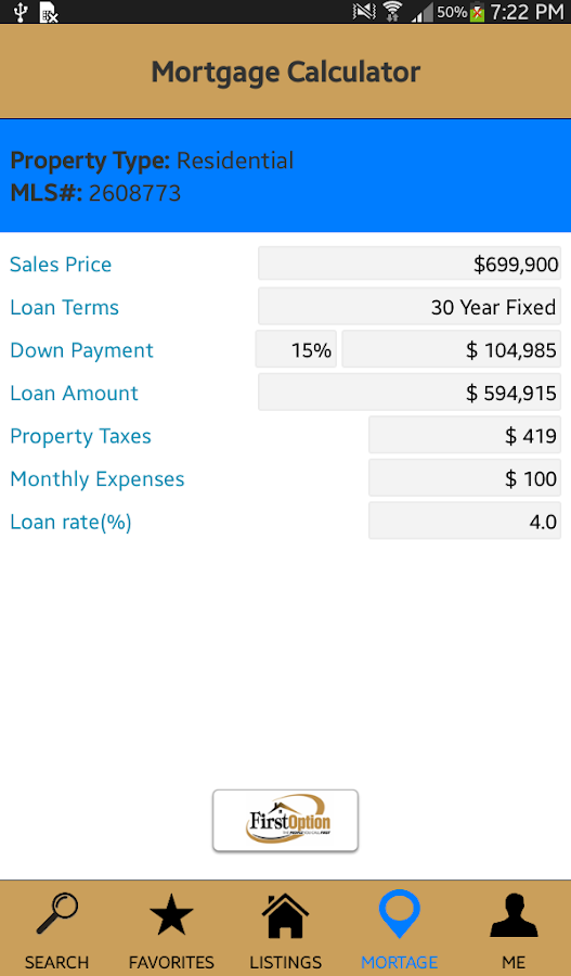 First Option Mortgage- screenshot