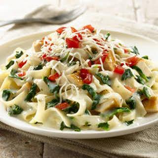 Creamy Chicken Pasta Florentine.