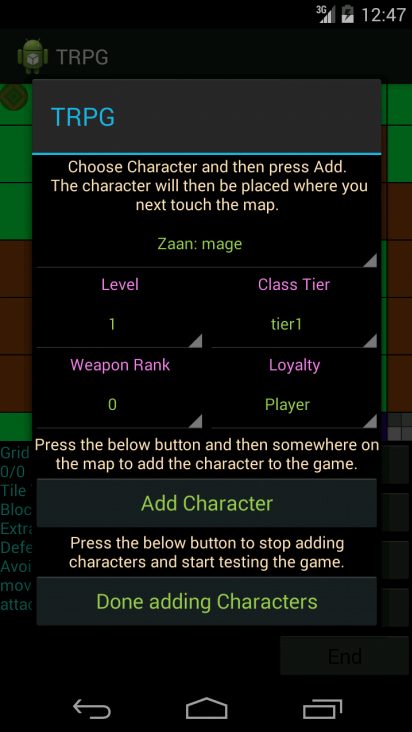 TRPG Tester - screenshot