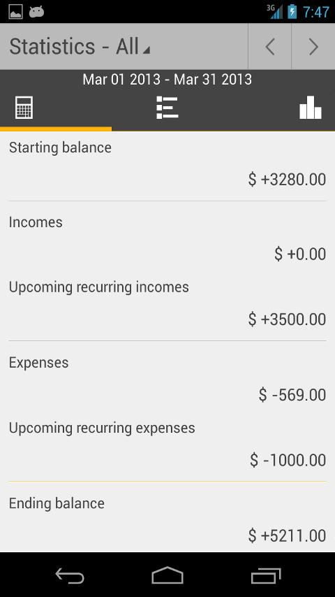 Money Tab - screenshot