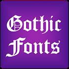 Gothic 2 pour FlipFont® libre icon