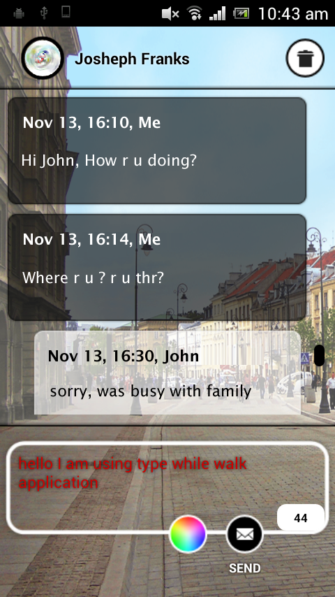 Screenshots of Type While Walk for iPhone