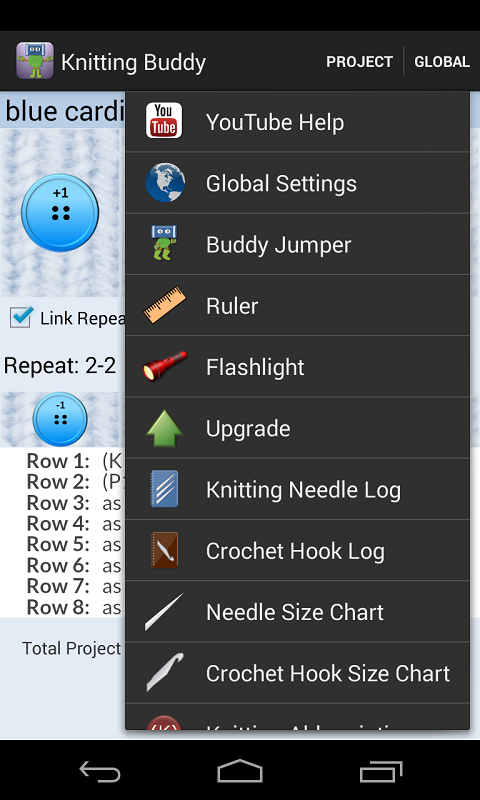 Knitting and Crochet Buddy- screenshot