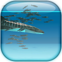 Whale shark and Sardines logo