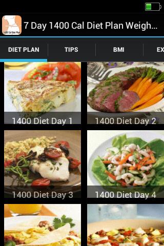 1400 Cal Diet Plan Weight Loss