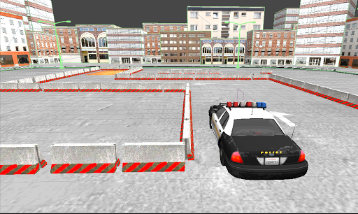 警察は車駐車場3D