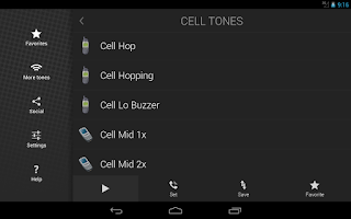 Screenshot of Cell Phone Ringtones