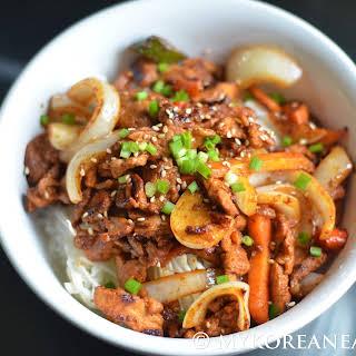 Jeyuk Bokkeum (Spicy Stir-Fried Pork).