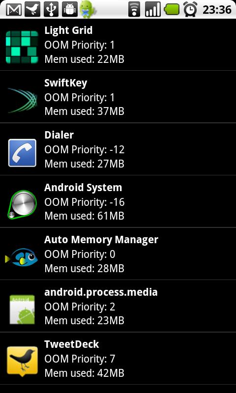 Auto Memory Manager Premium - screenshot