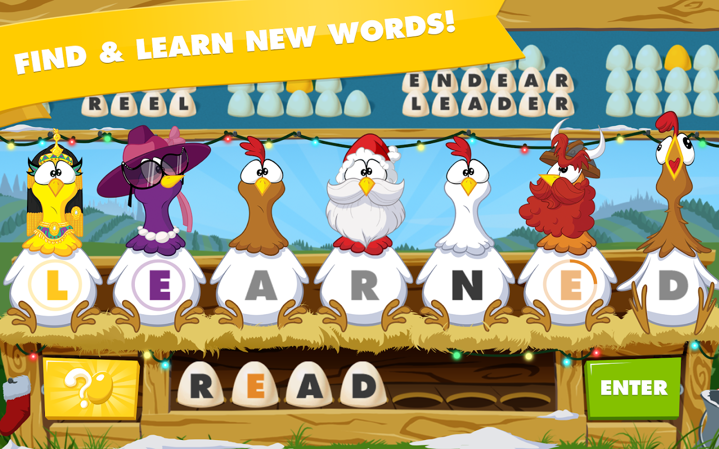 Chicktionary - Scrambled Words- screenshot