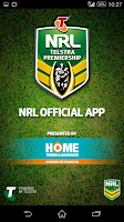 Screenshot of NRL Official App