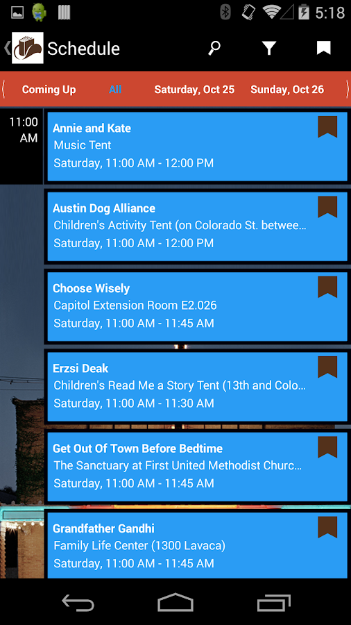 Texas Book Festival 2014 - screenshot