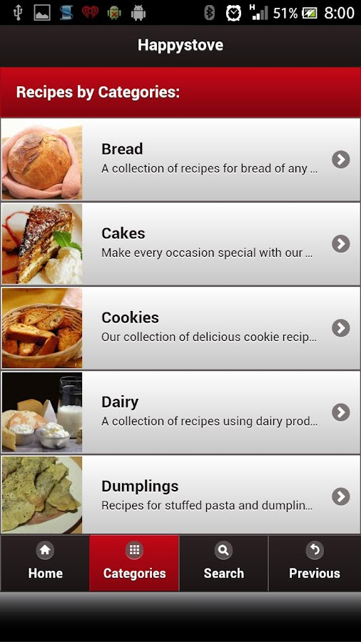Happystove Recipes - screenshot