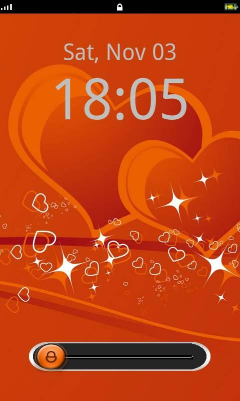 Love Lock Screen Theme - screenshot