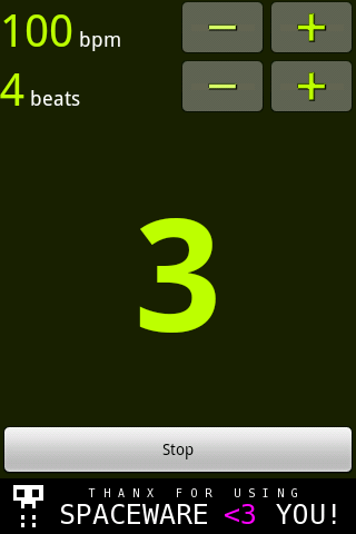 Simple Metronome- screenshot