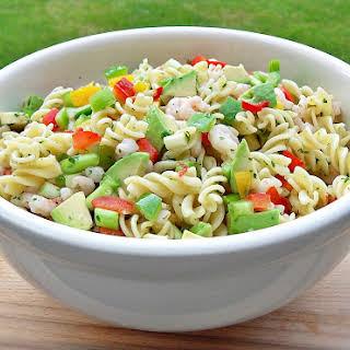Chilli Prawn and Pasta Salad.