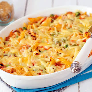 Healthy Macaroni Pie.