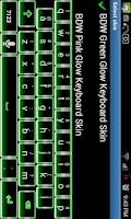 Screenshot of Green Glow Keyboard Skin