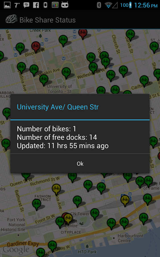 Bike Share Status - screenshot