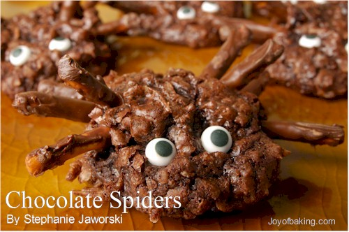10 best chocolate spiders no peanuts recipes - Halloween Chocolate Spiders
