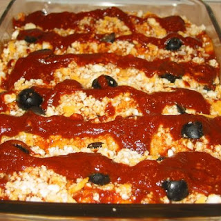 Enchiladas, Queso Fresco & Olive