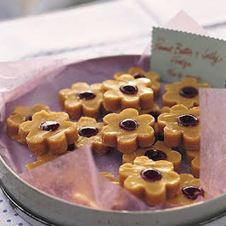 Peanut Butter and Jelly Fudge.