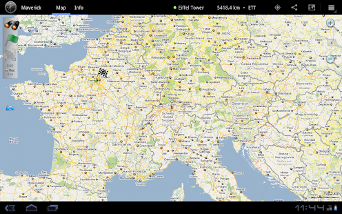 Maverick: GPS Navigation Screenshot