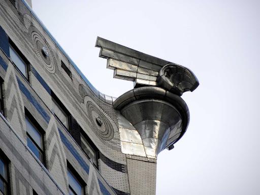 Detail of the Chrysler Building detail in Manhattan.