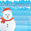 Christmas Keyboard Blue GO icon