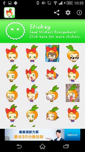Stickey Cartoon Oranges