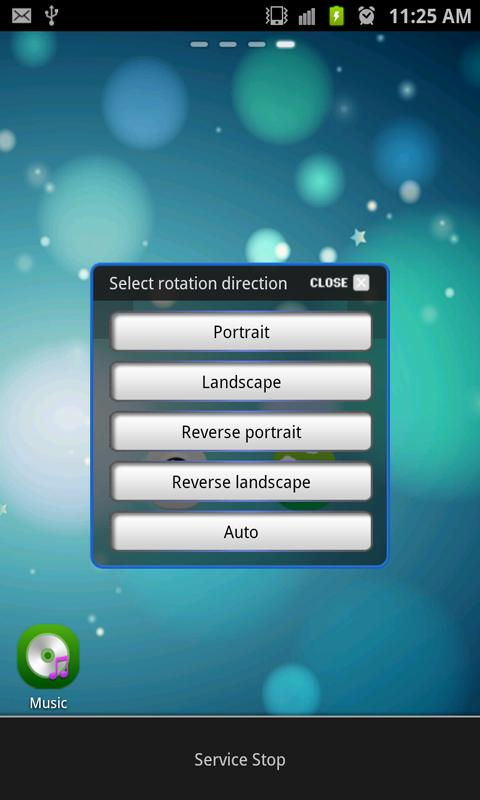 Screen Rotation Control- screenshot