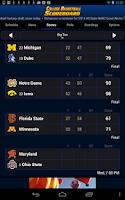 Screenshot of College Basketball Scoreboard
