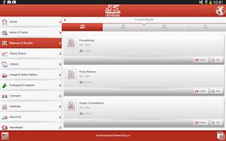 Screenshot of Generali