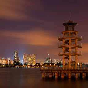 Lookout Tower by Kafoor Sammil - Buildings & Architecture Public & Historical ( singapore, lookout tower, tanjong rhu )