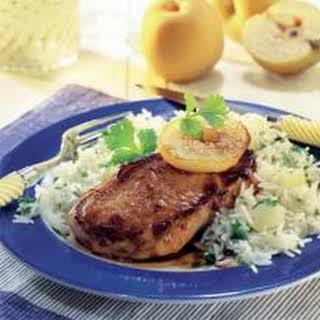Pork Chops With Nashi Pears.