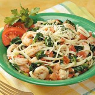 Spinach Shrimp Fettuccine.