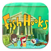 Fish Hooks Cartoon Puzzle Game