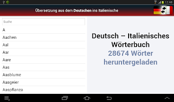 Screenshot of Deutsch-Italienisch? OK!