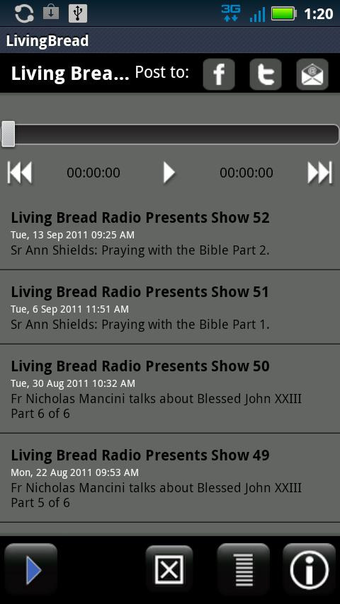 Living Bread Radio - screenshot
