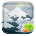 (FREE)GO SMS SKIING THEME icon