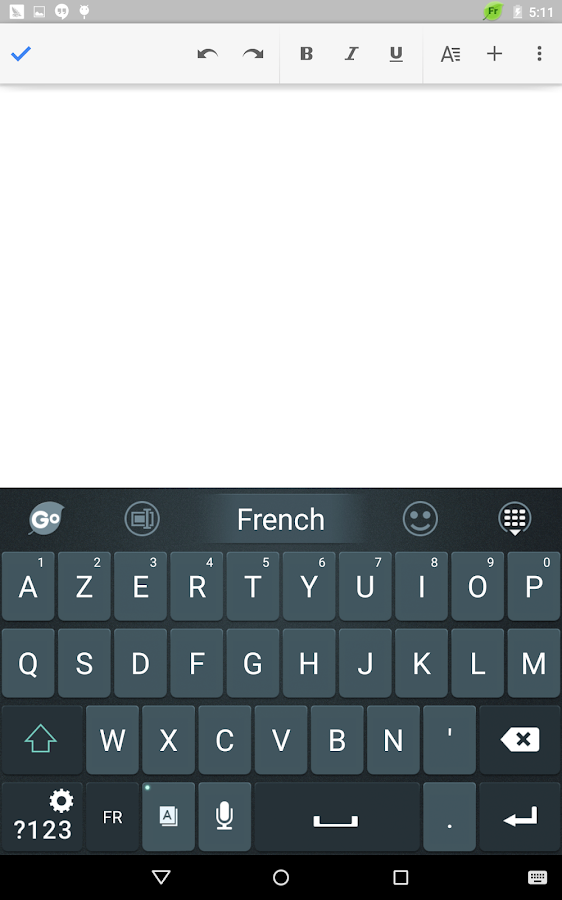 French Language - GO Keyboard - screenshot