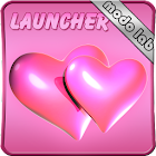 Hearts pink GO Launcher EX thm icon