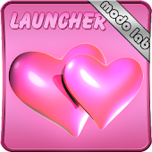 Hearts pink GO Launcher EX thm