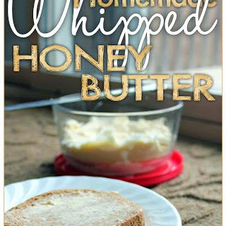 Homemade Whipped Honey Butter.