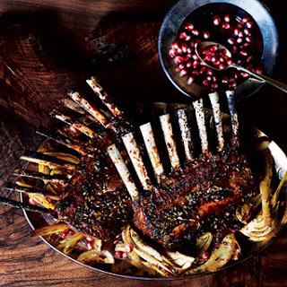 Pomegranate and Fennel Glazed Rack of Lamb Recipe
