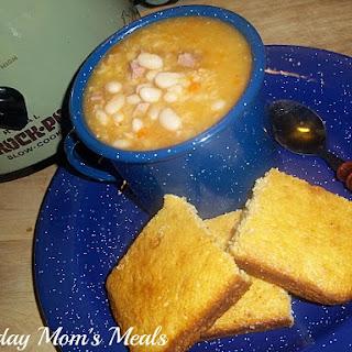 Crock Pot Ham and Beans.