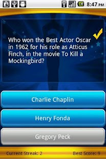 Oscars Trivia - screenshot thumbnail