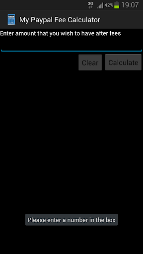 My Paypal Fee Calculator