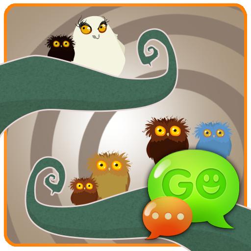 個人化必備App|GO SMS Pro Owl Theme LOGO-綠色工廠好玩App