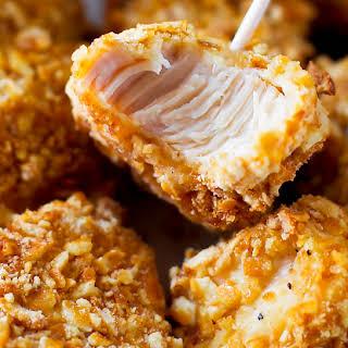 Pretzel Crusted Chicken Bites.